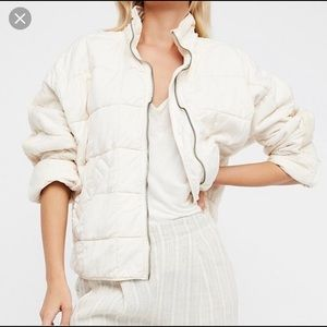 Like new Free People Dolman Quilted Jacket Almond